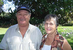 Herman & Marie Nel of Komatipoort South Africa. Herman Nel is a collector of old and vintage motor cars particularly Ford cars. His extensive Old Car Haven Museum houses Lincolns, Fords Jaguars and many old tractors and engines. Herman Nel has a huge collection of scale models of many old motor cars and tractors.